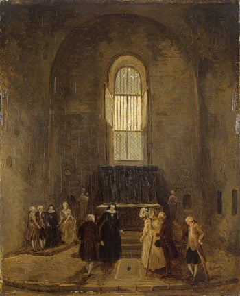 Examining an Old Church Late 1770s | Robert Hubert | oil painting
