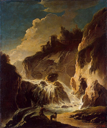Landscape with a Waterfall 1773 | Robert Hubert | oil painting