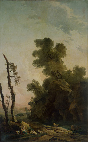 Landscape with Rocks 1773 | Robert Hubert | oil painting