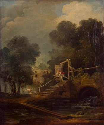 Flight 1780s | Robert Hubert | oil painting