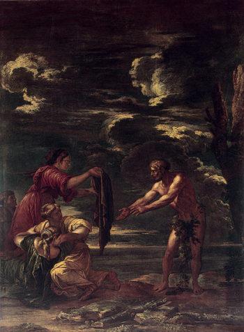 Odysseus and Nausicaa 1663-1664 | Rosa Salvator | oil painting