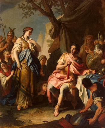 Alexander the Great and Roxane 1756 | Rotari Pietro | oil painting