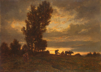 Landscape with a Plowman Early 1860s | Rousseau Theodore | oil painting