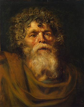 Head of an Old Man. Study for-The Crown of Thorns (Ecce Homo) 1612OR1614 | Rubens Pieter Paul | oil painting