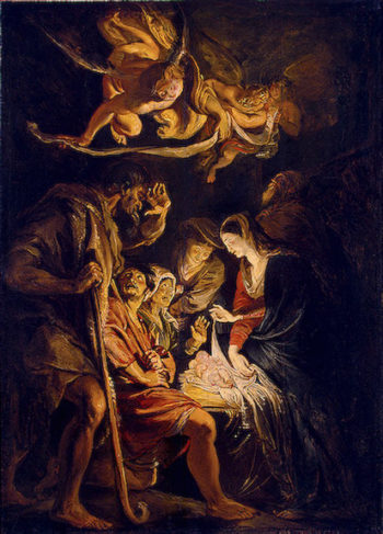 The Adoration of the Shepherds 1608 | Rubens Pieter Paul | oil painting