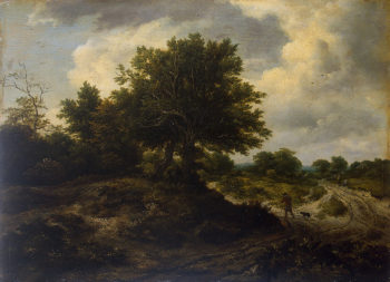 Landscape with a Traveller 1650 | Ruisdael Jacob Isaaksz van | oil painting