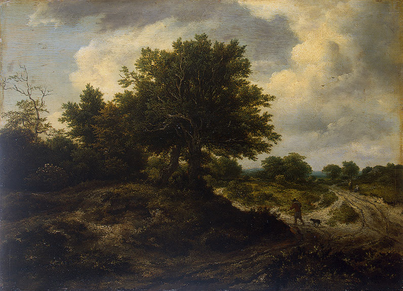 Landscape with a Traveller 1650   Ruisdael Jacob Isaaksz van   oil painting