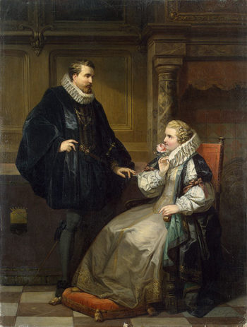A Lady and a Gentleman 1857 | Seghers Corneille (Cornelius) | oil painting