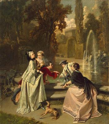 Misunderstanding 1855 | Serrure Auguste | oil painting