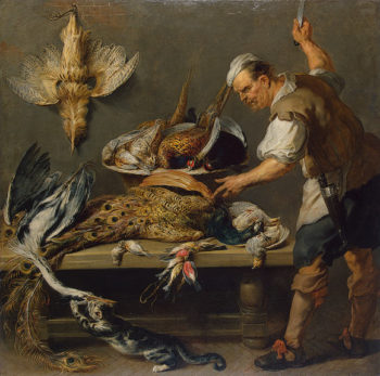 Cook at a Kitchen Table with Dead Game on it 1634-1637 | Snyders Frans | oil painting