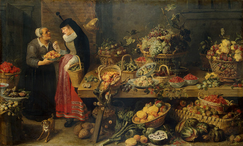 Fruit Stall 1618-1621   Snyders-Frans   oil painting