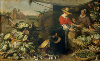 Greengrocery Stall 1618-1621 | Snyders-Frans | oil painting