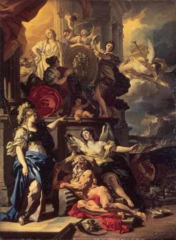 Allegory of Rule 1690 | Solimena Francesco | oil painting
