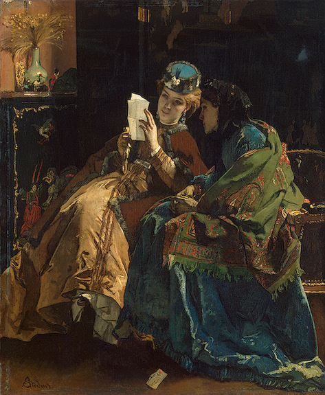 A Pleasant Letter 1860-1867 | Stevens Alfred | oil painting