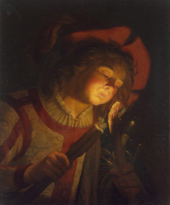 Boy with a Torch 1622 | Stomer Matthias | oil painting