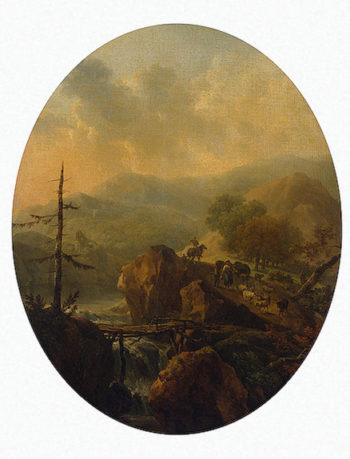 Mountain Landscape 1776 | Taunay Nicolas-Antoine | oil painting