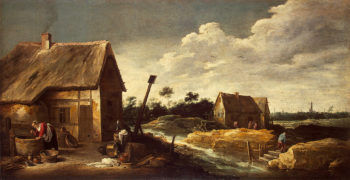 Landscape with a Maid at the Well Second half of the 1630s | Teniers David II | oil painting