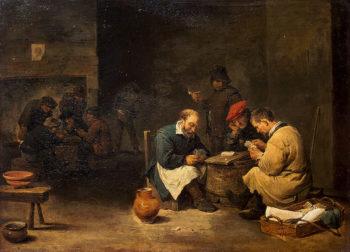 Card Players 1645 | Teniers David II | oil painting