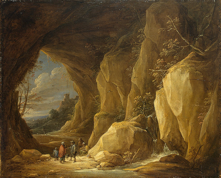 Landscape with a Grotto and a Group of Gipsies Early 1640s | Teniers David II | oil painting