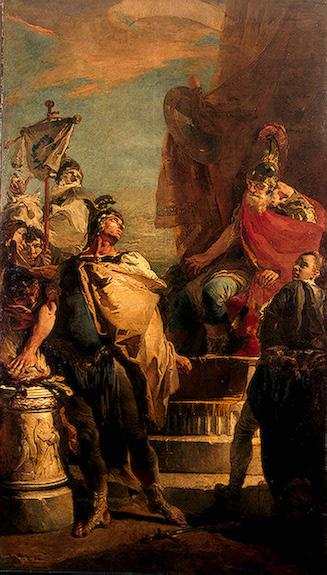 Mucius Scaevola Before Porsenna 1730 | Tiepolo Giovanni Battista | oil painting