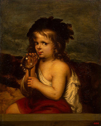 Boy Blowing Soap Bubbles 1700-1710 | Tobar Alonso Miguel de | oil painting
