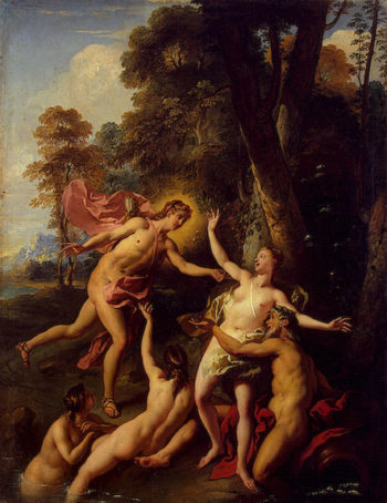Apollo and Daphne 1728 | Troy Jean-Francois de | oil painting