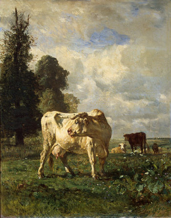 Cows in the Field 1852 | Troyon Constant | oil painting