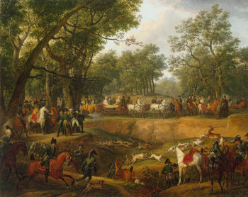 Napoleon on a Hunt in the Forest of Compiegne 1811 | Vernet Carle | oil painting