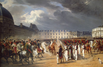 Invalid Handing a Petition to Napoleon at the Parade in the Court of the Tuileries Palace 1838 | Vernet Horace | oil painting