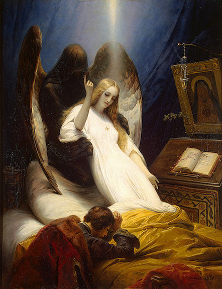 Angel of the Death 1851 | Vernet Horace | oil painting