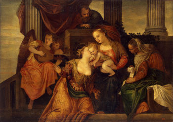 Mystical Marriage of St Catherine 1547or1548 | Veronese Paolo (Paolo Caliari) | oil painting