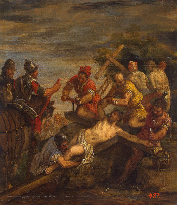 Nailing to the Cross 1570s | Veronese Paolo (Paolo Caliari) | oil painting