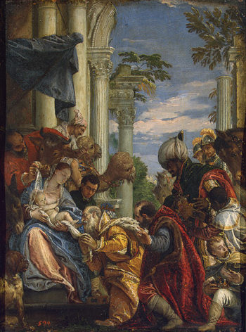 Adoration of the Magi 1570s | Veronese Paolo (Paolo Caliari) | oil painting