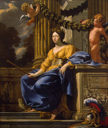 Allegorical Portrait of Anna of Austria as Minerva After 1643 | Vouet Simon | oil painting