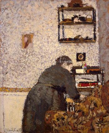 Old Woman in an Interior 1893 | Vuillard Edouard | oil painting