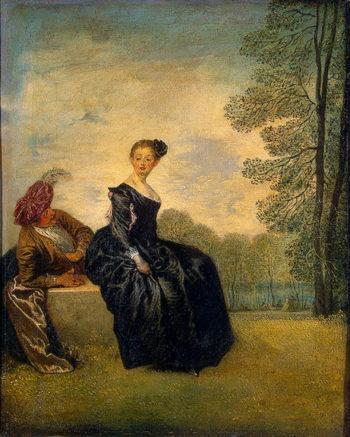 La Boudeuse (The Capricious Girl) 1718 | Watteau Antoine | oil painting