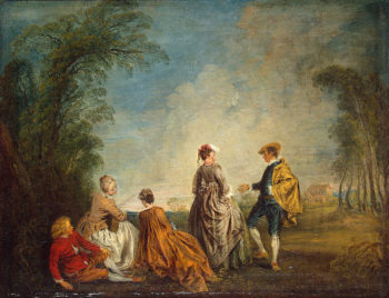 An Embarrasing Proposal 1715-1716 | Watteau Antoine | oil painting