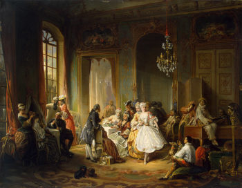 Actors Before a Performance 1851 | Wauters (Wouters) Constant | oil painting