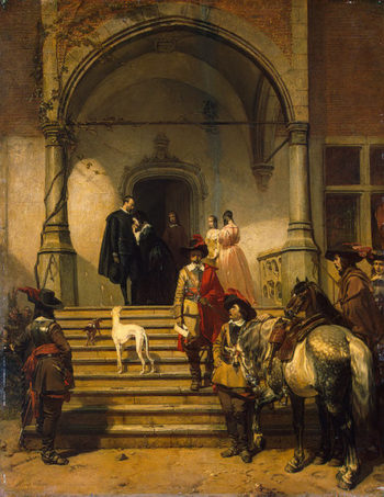 Arrest-Scene from Musketeers Life 1847 | Willems Florent | oil painting