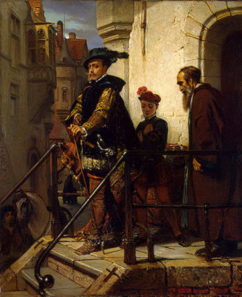 A Spanish Grandee Leaving his Creditor 1849 | Willems Florent | oil painting