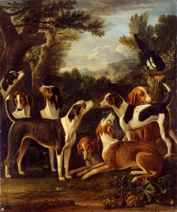 Hounds and a Magpie 1740s | Wootton John | oil painting