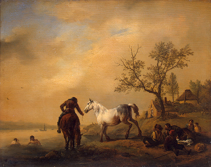 Horses at a Watering-Place 1619-1668 | Wouwerman Philips | oil painting