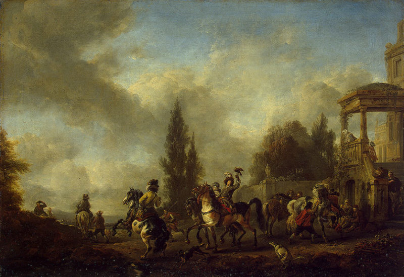 Huntsmen Setting Out Mid-17th century | Wouwerman Philips | oil painting
