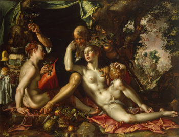 Lot and his Daughters 1600 | Wtewael Joachim | oil painting