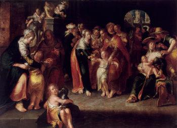 Christ with Children 1621 | Wtewael Joachim | oil painting