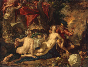 Lot and his Daughters 1603-1608 | Wtewael Joachim | oil painting