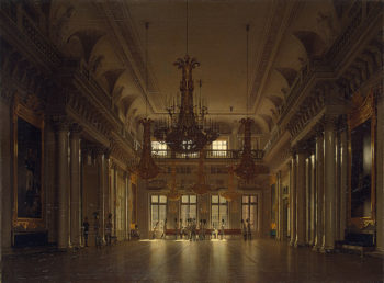 Interiors of the Winter Palace. The Fieldmarshals Hall 1836 | Zaryanko Sergei Konstantinovich | oil painting