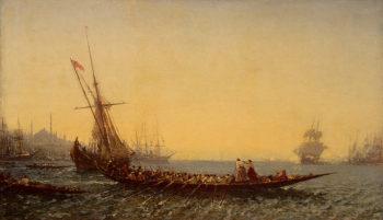 Harbour at Constantinople 1880s | Ziem Felix Francois Georges Philibert | oil painting