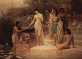 The Finding of Moses | Edwin Long | oil painting