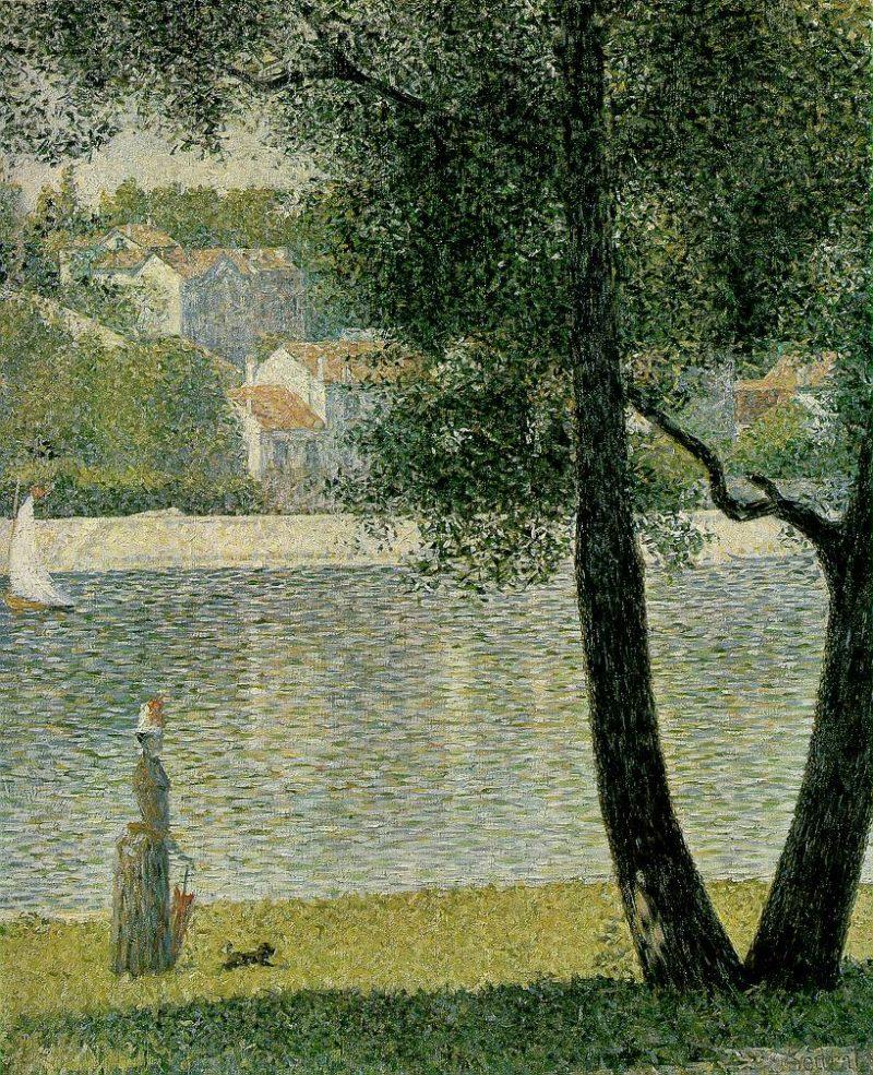 La Seine A Courbevoie 1885 | Georges Seurat | oil painting